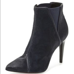 Rachel Zoe Fabian black calf hair booties